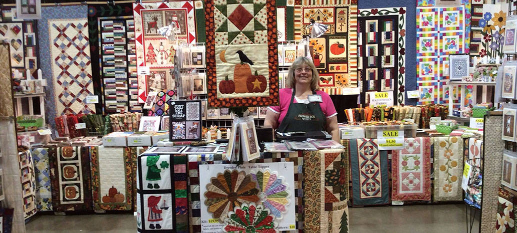 Flower Box Quilts Booth