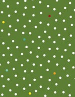 3294-44 Snow Dots Winter Green