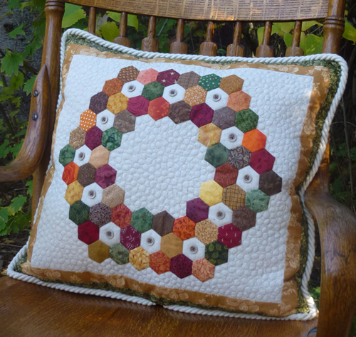 Handwork classes flower box quilts in quilts tiles or advertisements making hexagons is an easy take along project for riding in a car or watching tv a short power point presentation toneelgroepblik Image collections