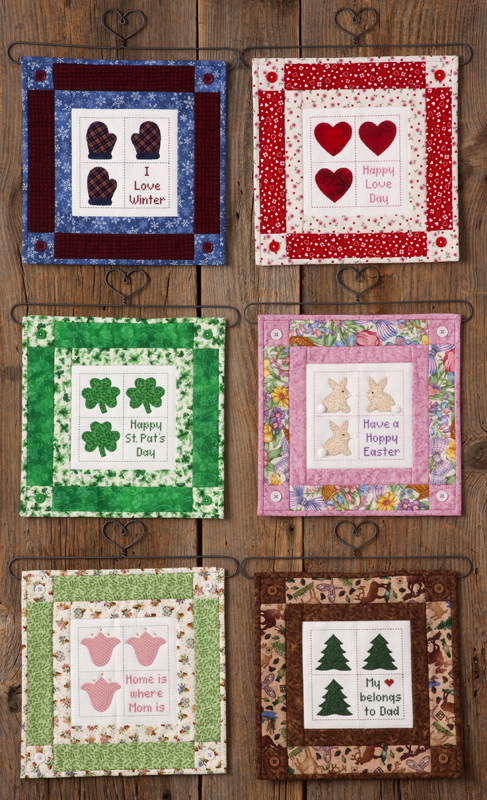 Seasonal Mini Quilts January To June Flower Box Quilts